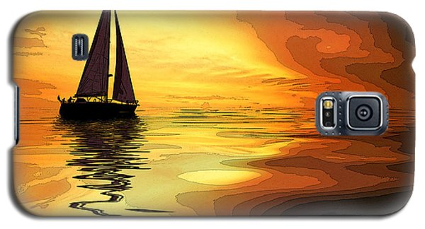 Sailboat At Sunset Galaxy S5 Case