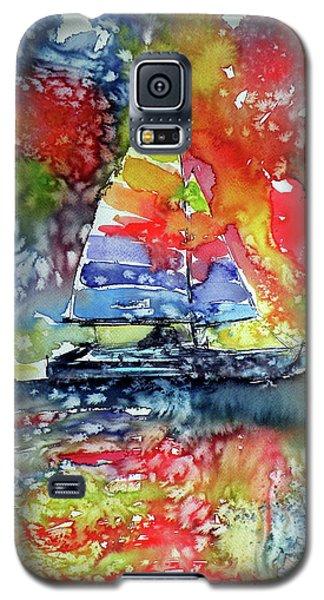 Sailboat At Sunset II Galaxy S5 Case by Kovacs Anna Brigitta