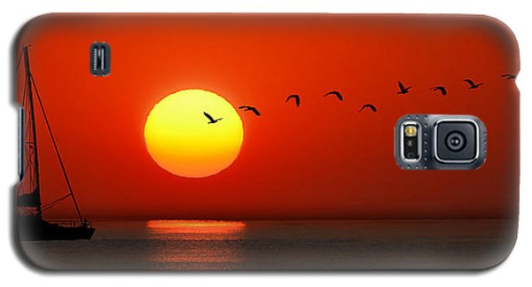 Sailboat At Sunset Galaxy S5 Case