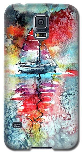 Sailboat At The Sinshine Galaxy S5 Case by Kovacs Anna Brigitta
