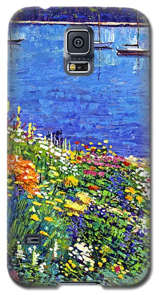 Sailboat Bay Garden Galaxy S5 Case