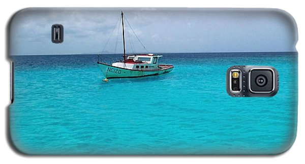 Sailboat Drifting In The Caribbean Azure Sea Galaxy S5 Case by Amy McDaniel