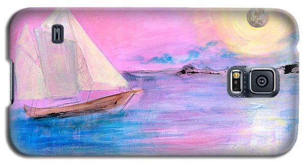 Sailboat In Pink Moonlight  Galaxy S5 Case