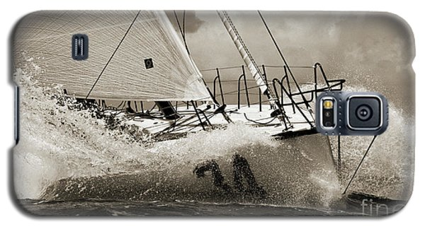 Sailboat Le Pingouin Open 60 Sepia Galaxy S5 Case