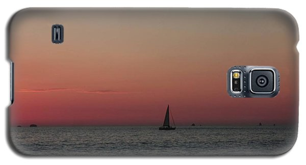 Galaxy S5 Case featuring the photograph Sailboat Sunset Sky by Ellen O'Reilly