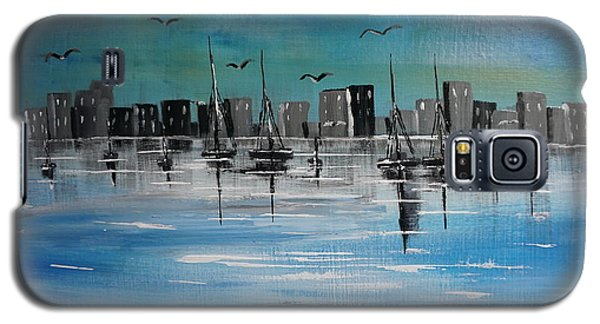 Sailboats And Cityscape Galaxy S5 Case