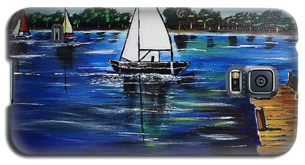 Sailboats And Pier Galaxy S5 Case