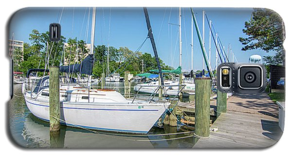 Galaxy S5 Case featuring the photograph Sailboats At Dock by Charles Kraus