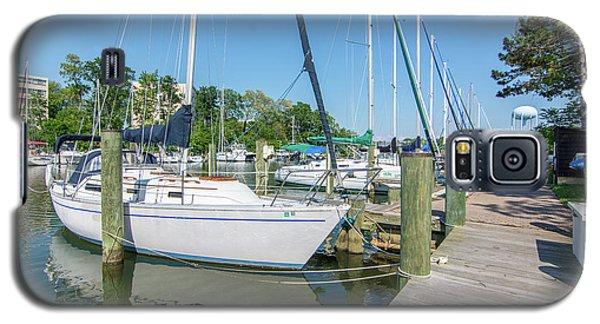 Sailboats At Dock Galaxy S5 Case