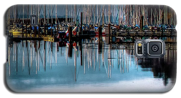 Sailboats At Sunset Galaxy S5 Case by David Patterson