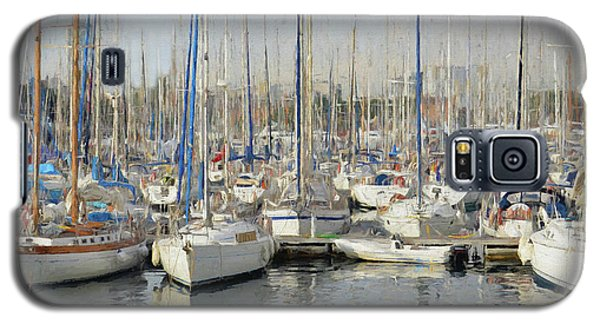 Sailboats At The Dock - Painting Galaxy S5 Case