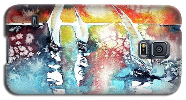 Sailboats At The Sunshine Galaxy S5 Case by Kovacs Anna Brigitta
