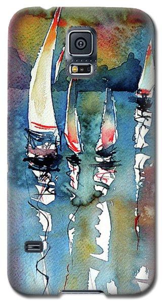 Sailboats II Galaxy S5 Case by Kovacs Anna Brigitta