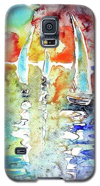 Sailboats In Light Galaxy S5 Case by Kovacs Anna Brigitta