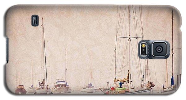 Sailboats In Morro Bay Fog Galaxy S5 Case