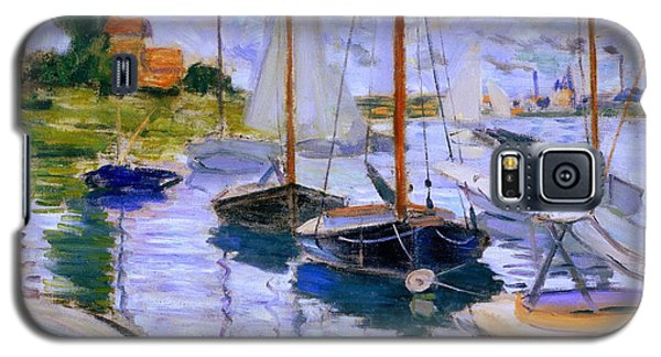Sailboats On The Seine At Petit Gennevilliers Claude Monet 1874 Galaxy S5 Case