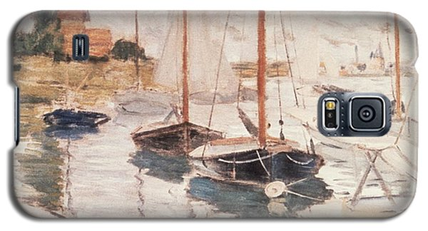 Sailboats On The Seine Galaxy S5 Case by Claude Monet