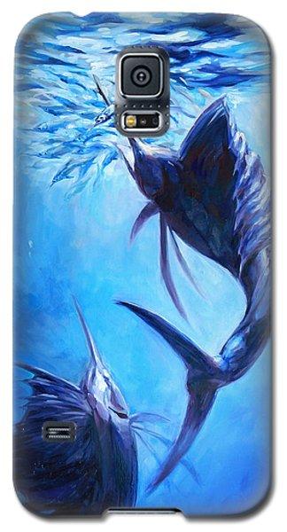 Swordfish Galaxy S5 Case - Sailfish And Ballyhoo by Tom Dauria