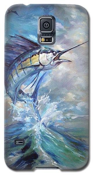 Swordfish Galaxy S5 Case - Sailfish And Frigate by Tom Dauria