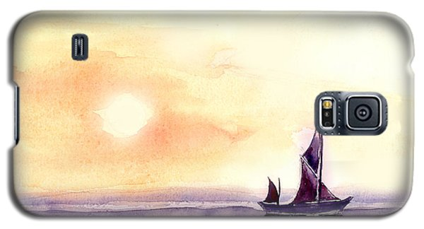 Galaxy S5 Case featuring the painting Sailing by Anil Nene
