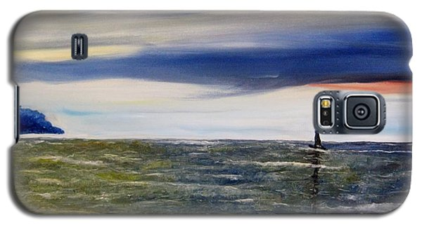 Galaxy S5 Case featuring the painting Sailing At Dusk by Marilyn  McNish