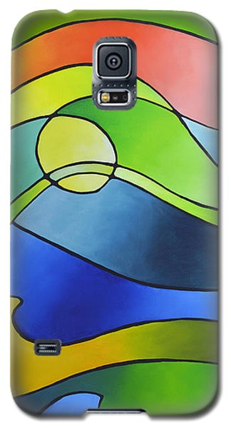 Sailing Away, Canvas Three Galaxy S5 Case by Sally Trace
