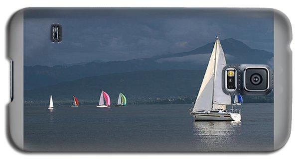 Sailing Boats By Stormy Weather, Geneva Lake, Switzerland Galaxy S5 Case