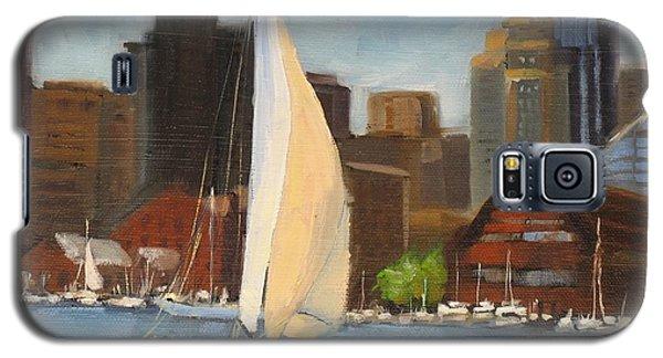 Sailing Boston Harbor Galaxy S5 Case by Laura Lee Zanghetti