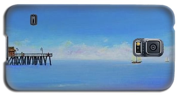 Galaxy S5 Case featuring the painting Sailing By San Clemente by Mary Scott