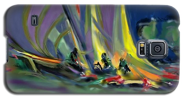 Galaxy S5 Case featuring the digital art Sailing by Darren Cannell