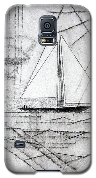 Sailing In The City Harbor Galaxy S5 Case by J R Seymour