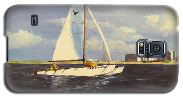 Galaxy S5 Case featuring the painting Sailing In The Netherlands by Jack Skinner