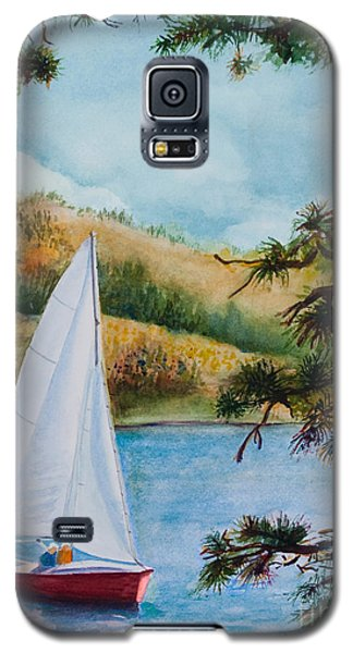 Galaxy S5 Case featuring the painting Sailing by Karen Fleschler