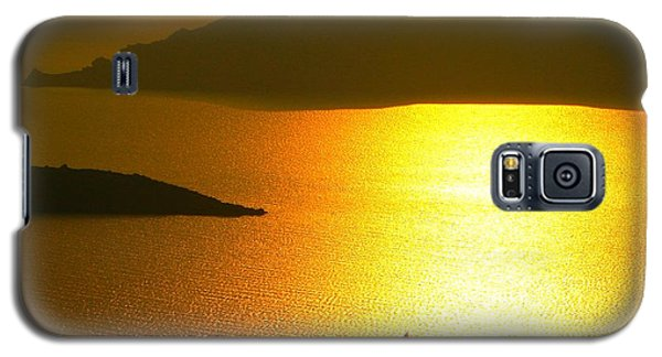 Galaxy S5 Case featuring the photograph Sailing On Gold 1 by Ana Maria Edulescu