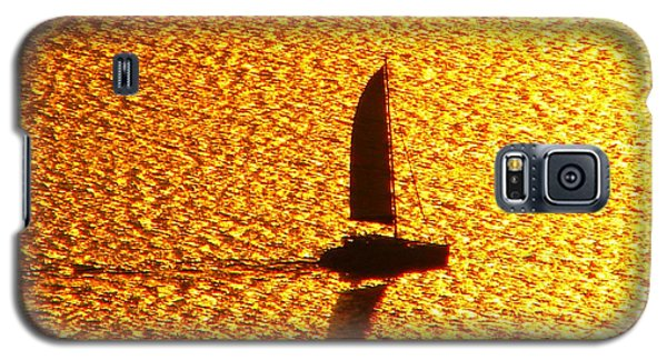 Galaxy S5 Case featuring the photograph Sailing On Gold by Ana Maria Edulescu