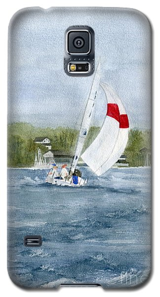 Galaxy S5 Case featuring the painting Sailing On Niagara River by Melly Terpening