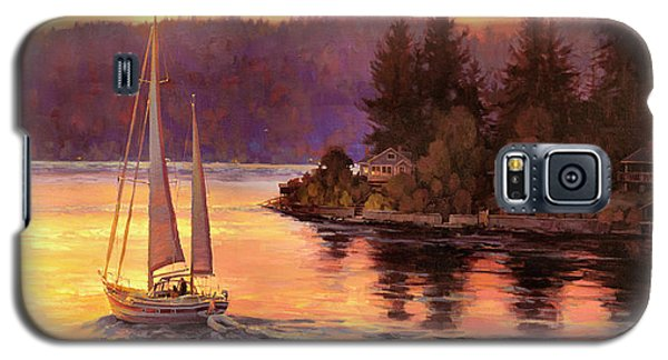 The Sky Galaxy S5 Case - Sailing On The Sound by Steve Henderson