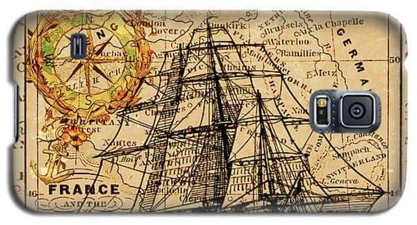 Sailing Ship Map Galaxy S5 Case