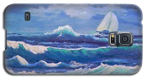 Galaxy S5 Case featuring the painting Sailing The Caribbean by Holly Martinson