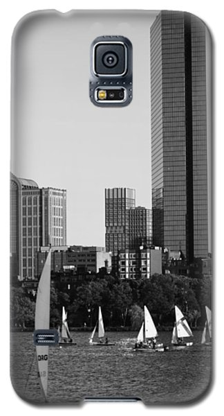 Sailing The Charles River Boston Ma Black And White Galaxy S5 Case