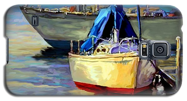 Galaxy S5 Case featuring the painting Sails At Rest by David  Van Hulst