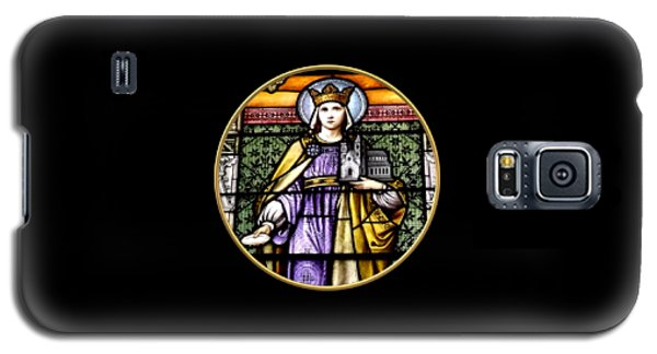 Saint Adelaide Stained Glass Window In The Round Galaxy S5 Case