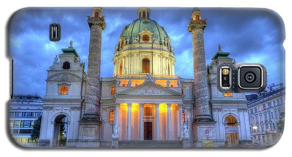 Saint Charles's Church At Karlsplatz In Vienna, Austria, Hdr Galaxy S5 Case