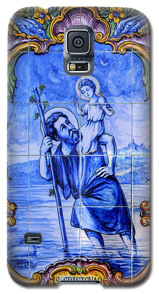 Saint Christopher Carrying The Christ Child Across The River - Near Entrance To The Carmel Mission Galaxy S5 Case