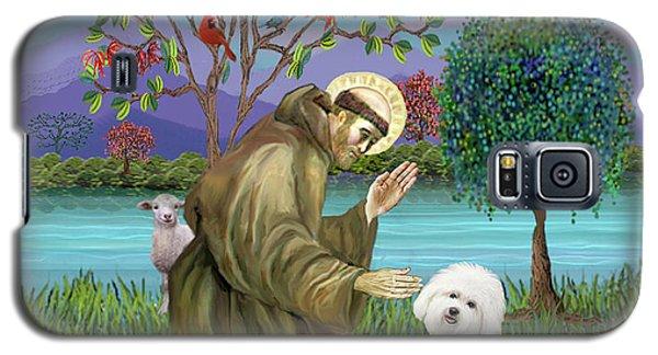 Saint Francis Blesses A Bichon Frise Galaxy S5 Case