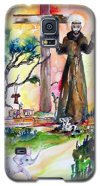 Galaxy S5 Case featuring the painting Saint Francis Of Assisi Italy  by Ginette Callaway