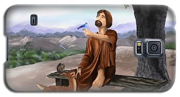 Galaxy S5 Case featuring the painting Saint Francis by Susan Kinney