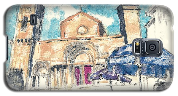 Galaxy S5 Case featuring the painting Saint Gilles Abbey by Martin Stankewitz