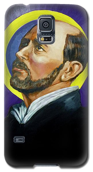 Galaxy S5 Case featuring the painting Saint Ignatius Loyola by Bryan Bustard