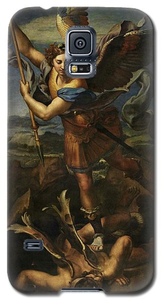Saint Michael Defeats Satan Galaxy S5 Case